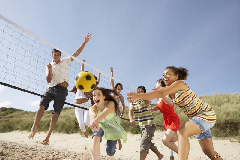 Игра в волейбол