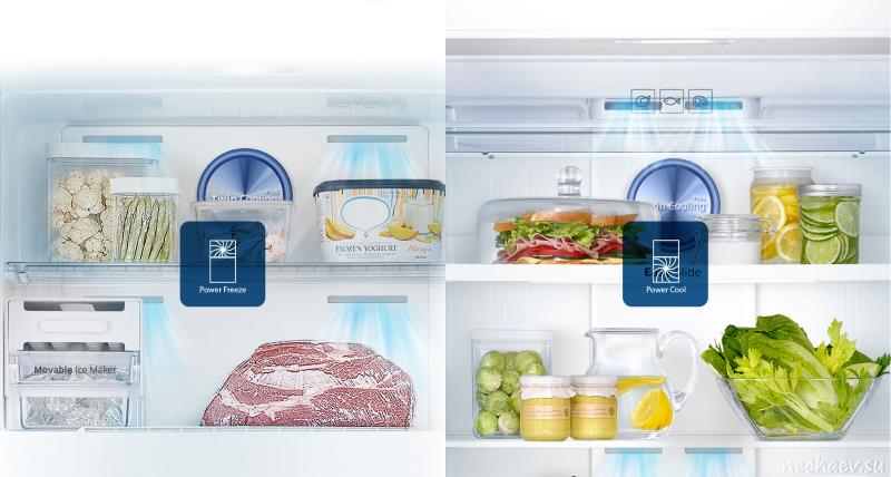 Холодильник Самсунг изнутри