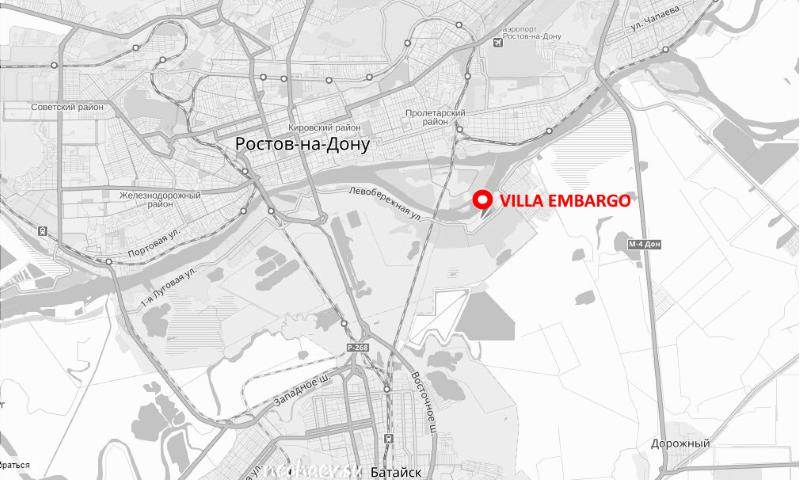 Расположение Villa Embargo на карте